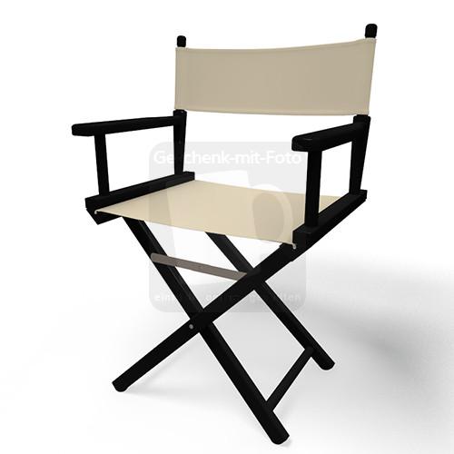 regiestuhl schwarz mit namen. Black Bedroom Furniture Sets. Home Design Ideas