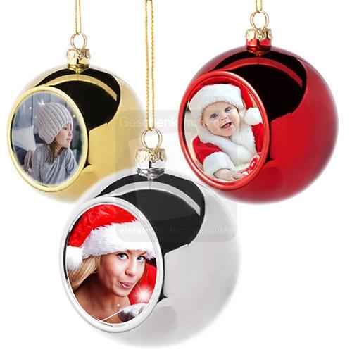 Weihnachtskugel mit Fotodruck