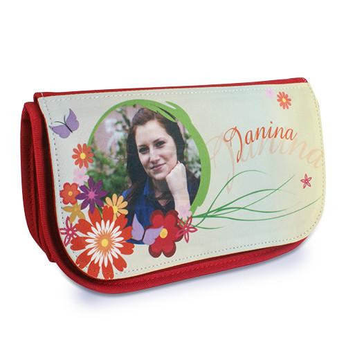 Kosmetiktasche mit Foto - 22 x 13 x 7 cm - Rot