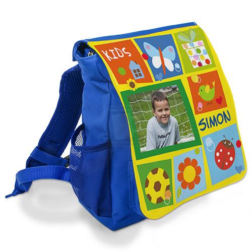 Kinder-Rucksack mit Foto bedrucken - 21 x 26,5 x 10,5 cm