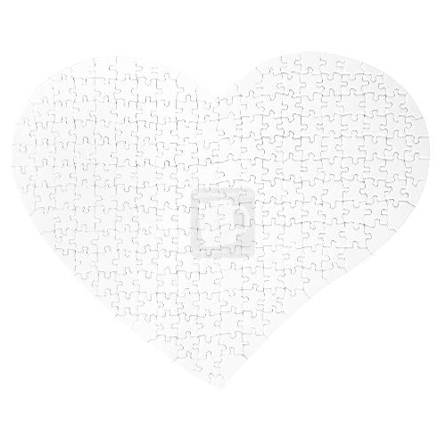 Herz-Puzzle bedrucken, Größe 28,5 x 355 cm, 208 Teile