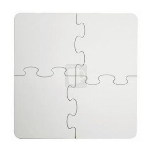 4 Teile Puzzle mit Foto