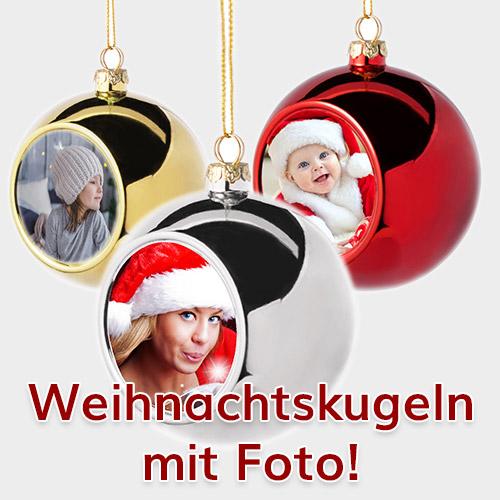 Weihnachtskugel mit Foto oder Logo bedrucken